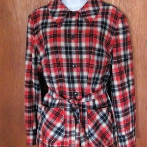 Vintage, Pendelton, plaid, pantsuit, top, slacks